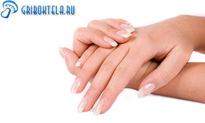 пальцы рук после лечения грибка фото