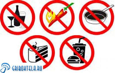 запрещенные продукты при молочнице