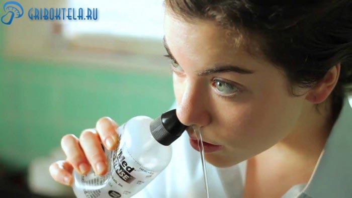 Лечение грибка в носу промыванием
