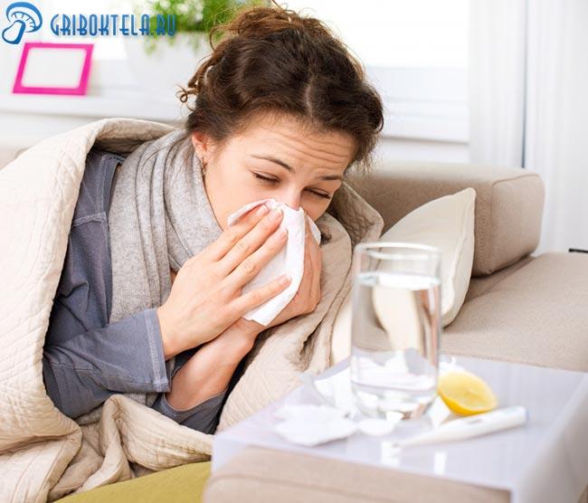 Простуда у женщины фото