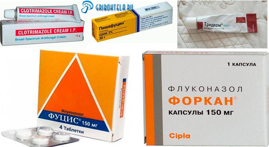 Лекарства для лечения молочницы на члене