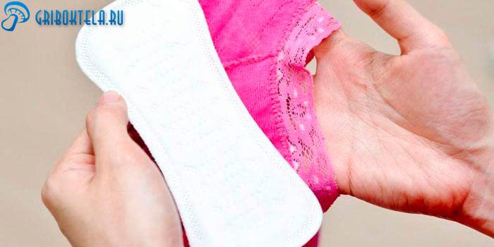 Свежие трусики и прокладки основное средство профилактики грибка влагалища