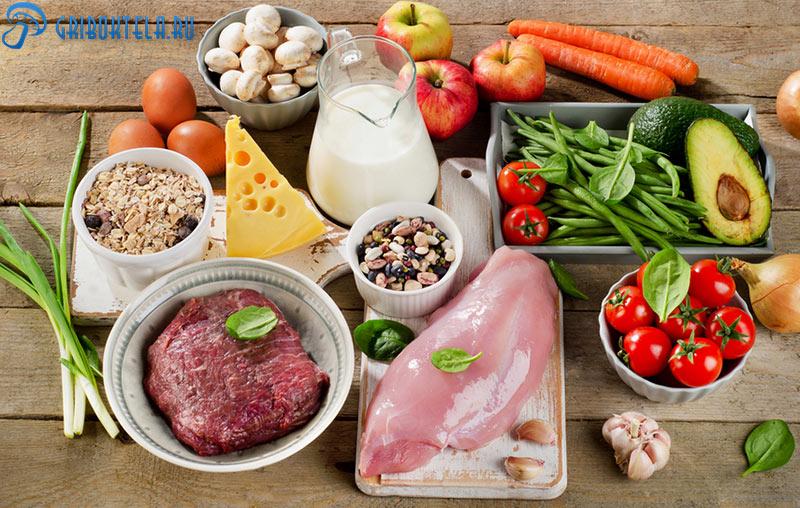 Продукты питания при лишае на лице