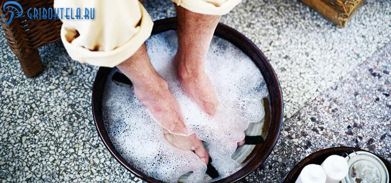 Ванночка с солью от грибка