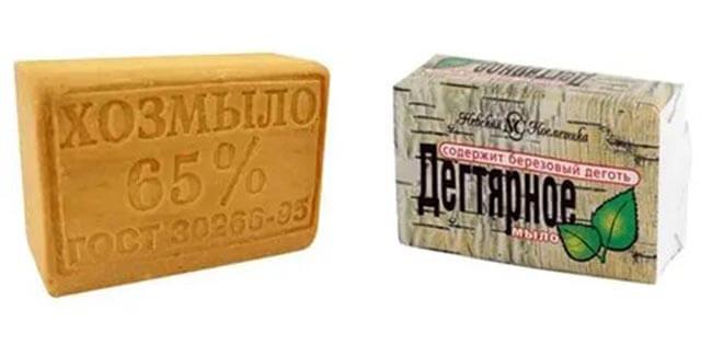 Дегтярное и хозяйственное мыло